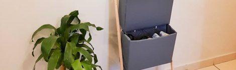 Sapateira com caixa de papelão - DIY
