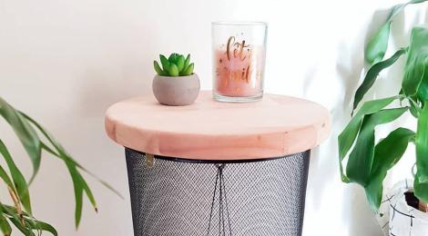 Como fazer mesa lateral - DIY
