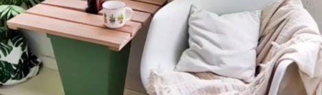 Como fazer um vaso-mesa para a sacada
