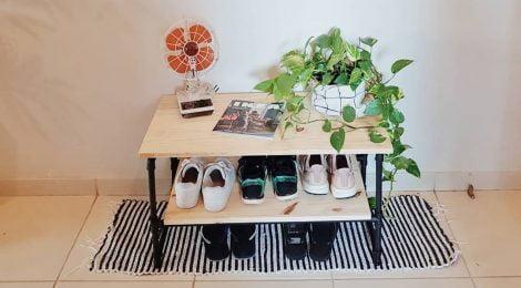 Sapateira de cano PVC - DIY