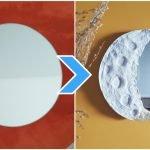 Espelho com moldura de lua DIY