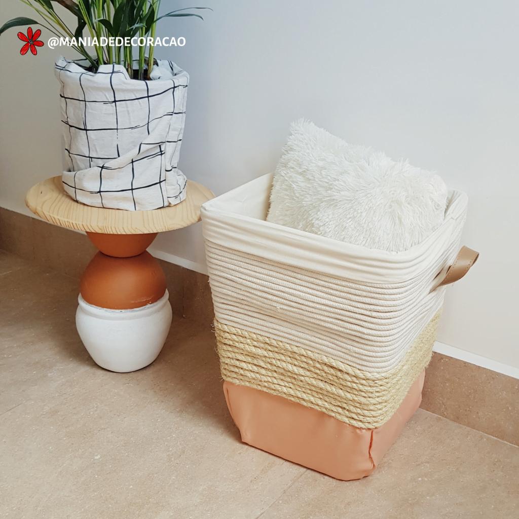 Transformando um banco de plástico em um cesto