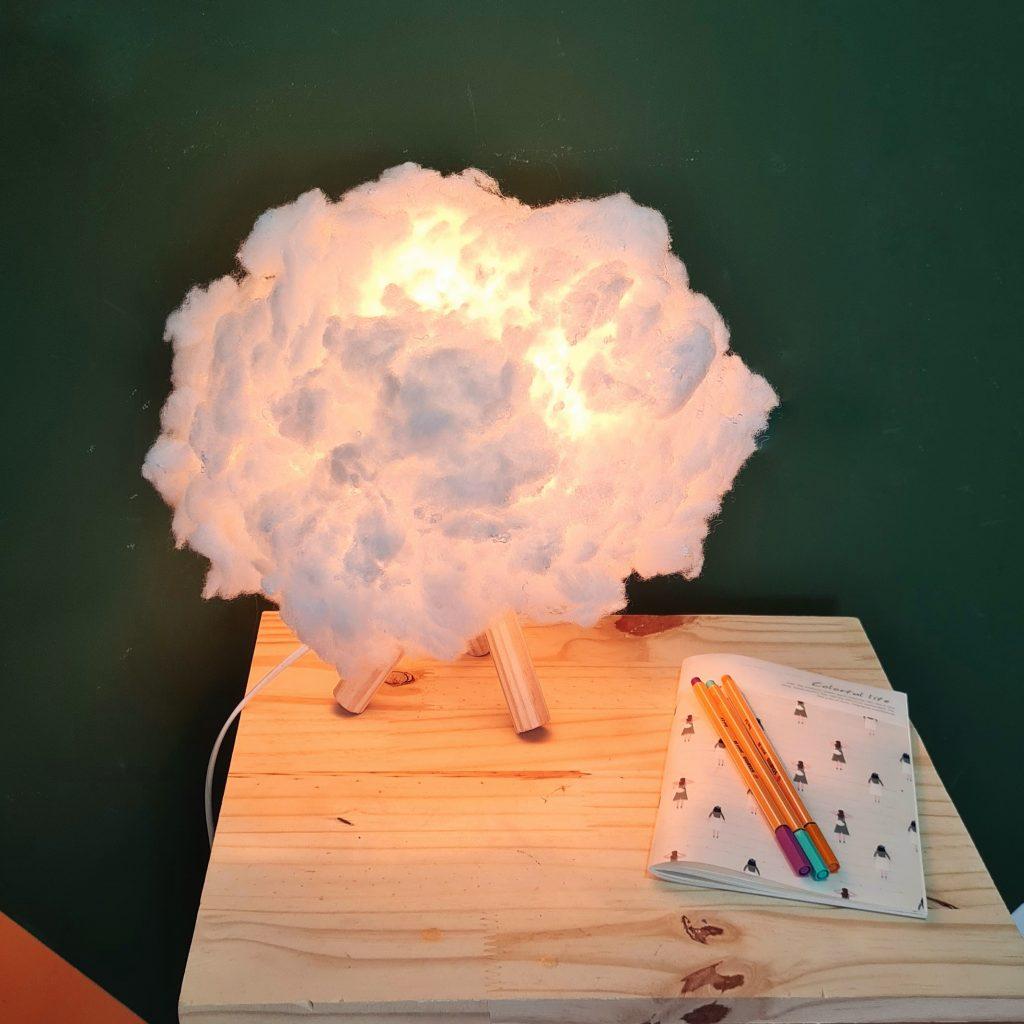 Como fazer uma luminária de nuvem