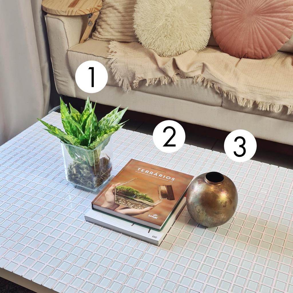 Como decorar a mesa de centro